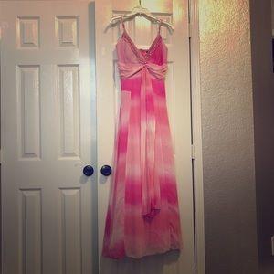Pink tie dye formal